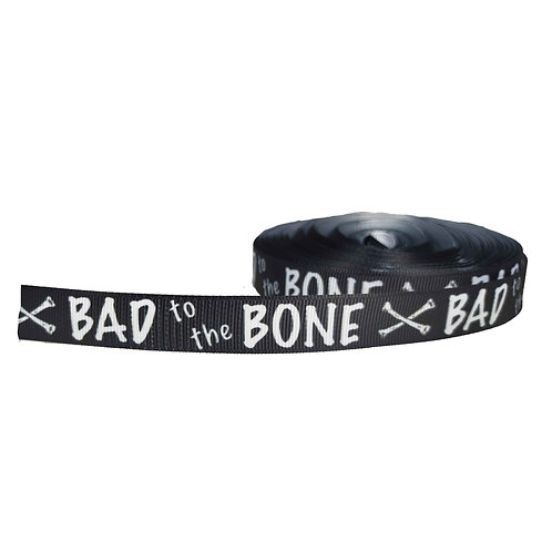 19mm Wide Bad to the Bone Black Lead