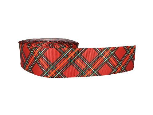 XL Christmas Tartan Martingale Collar