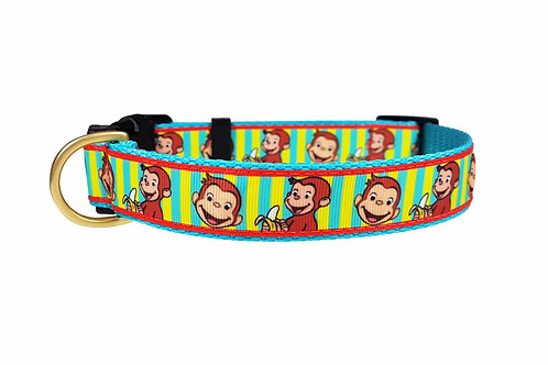 25mm Wide Curious George Dog Collar