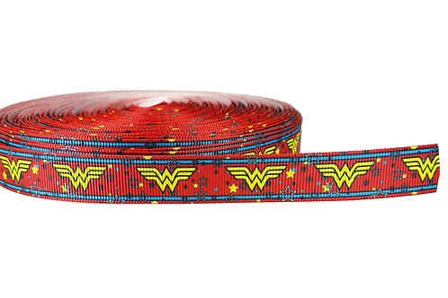 19mm Wide Wonder Woman (Red) Double Ended Lead