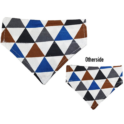 Small Blue, Silver, Black Triangles Bandana