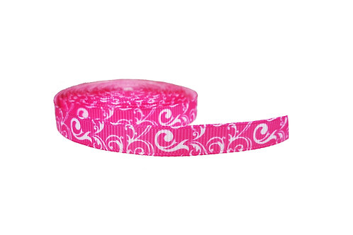 12.7mm Wide Pink w/ White Swirls Lead