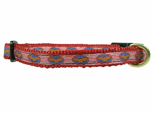 12.7mm Wide Wonder Woman Red Collar