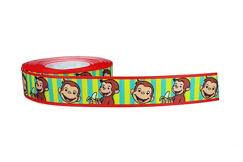 25mm Wide Curious George Martingale Collar