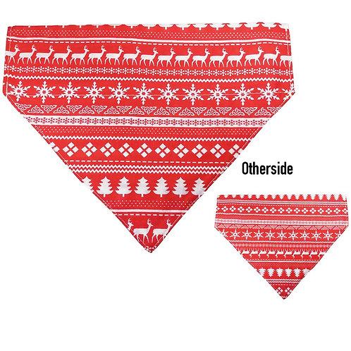 Large Red Xmas Sweater Bandana