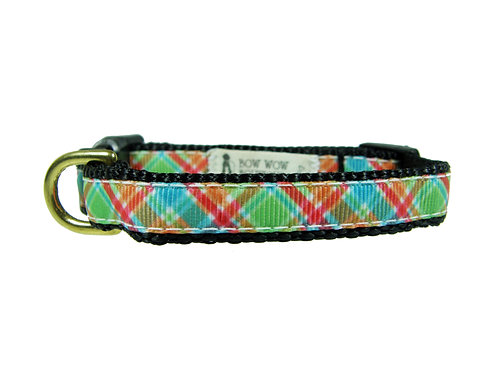 12.7mm Wide Red, Green and Blue Tartan Collar