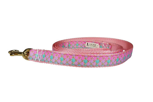 19mm Wide Pink Mermaid Scales Lead