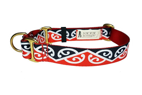 25mm Wide Maori Kowhaiwhai Martingale Collar