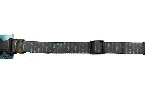 25mm Wide Mint Arrows Dog Collar