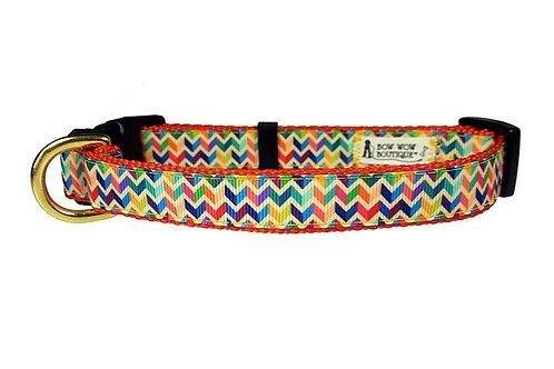 19mm Wide Multi Coloured Chevron Collar