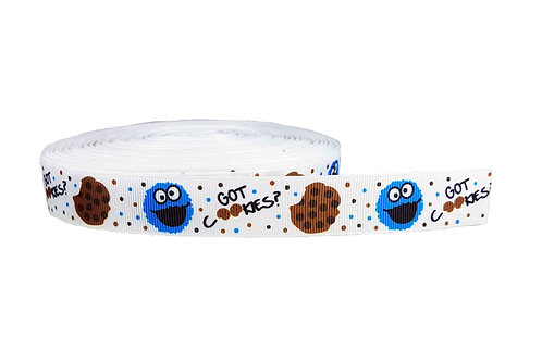 25mm Wide Cookie Monster Dog Collar