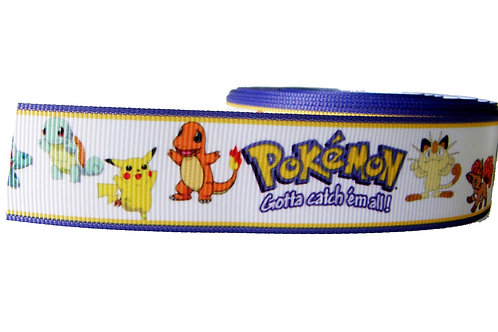 25mm Wide Pokemon Martingale Collar