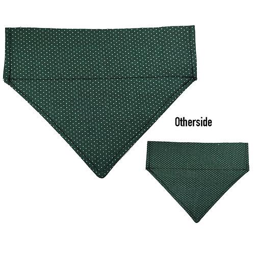 Medium White Dots on Green Bandana