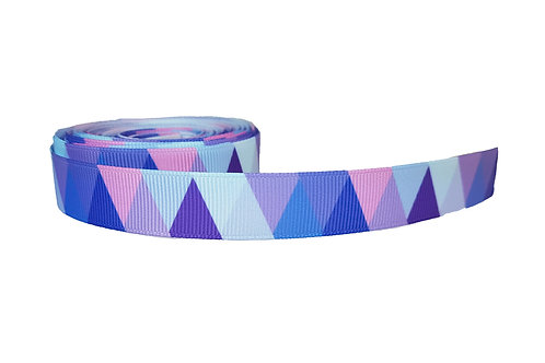 19mm Wide Purple Triangle Martingale Collar