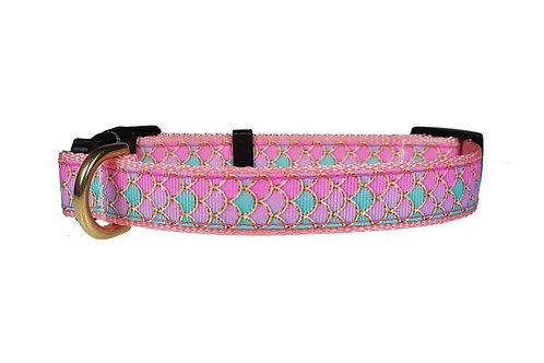 19mm Wide Pink Mermaid Scales Collar
