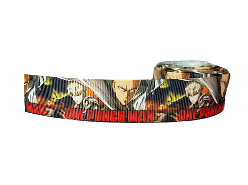 25mm Wide One Punch Man (Red) Dog Collar