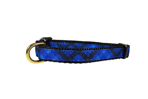 12.7mm Wide Blue Tartan Collar
