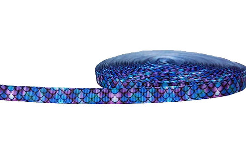 12.7mm Wide Purple Mermaid Double Ended Lead