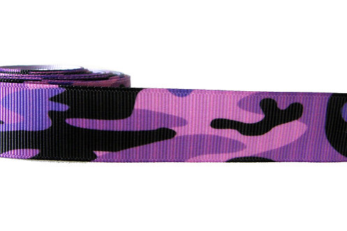 25mm Wide Purple Camo Double Ended Lead