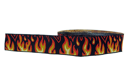 25mm Wide Flames Martingale Collar