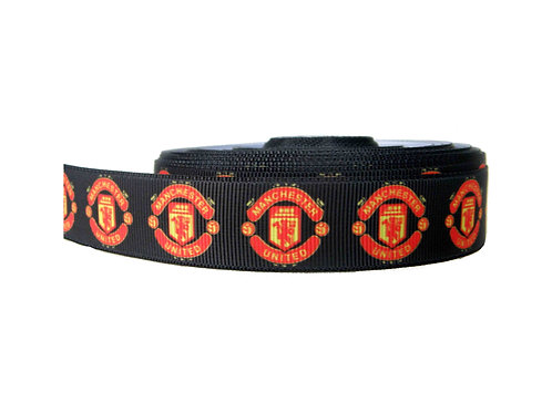 25mm Wide Manchester United FC Dog Collar