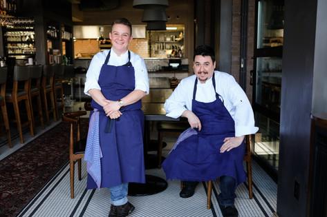 Sous Chefs Ellen Rounds & Matt Stanzel