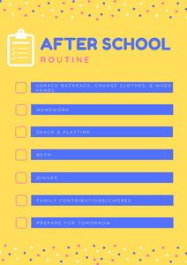 We've compiled a list of what we think is the perfect after school routine.