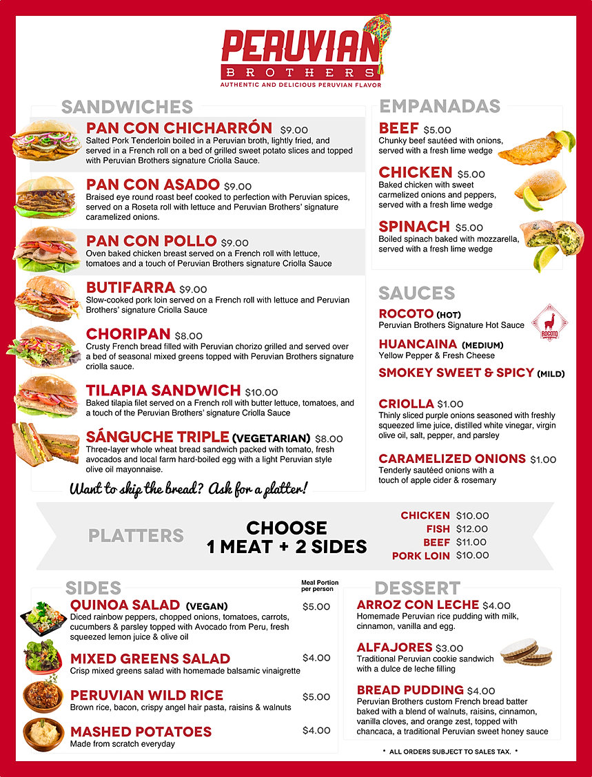 Peruvian brothers food truck concessions catering company for Kitchen 88 food truck utah menu