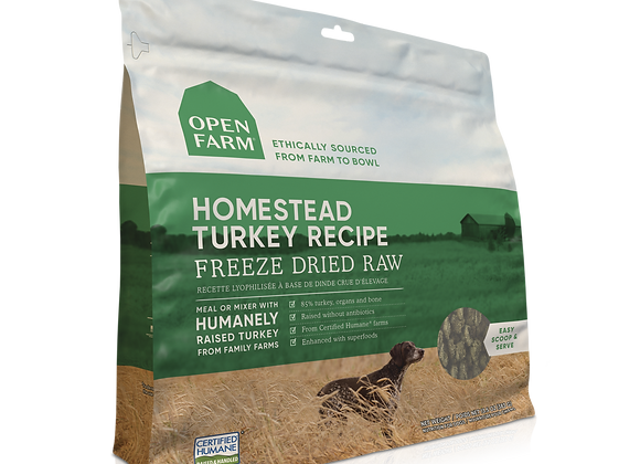 Open Farm Homestead Turkey Freeze-Dried Raw Dog Food