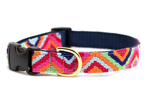 Bright Retro Style Dog Collar