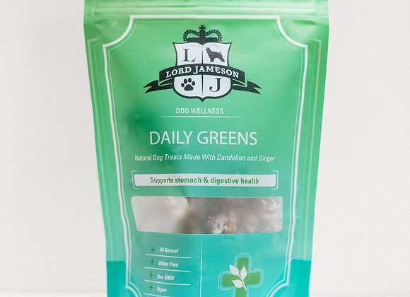 """Daily Greens"" Organic Digestive Support Dog Treats"