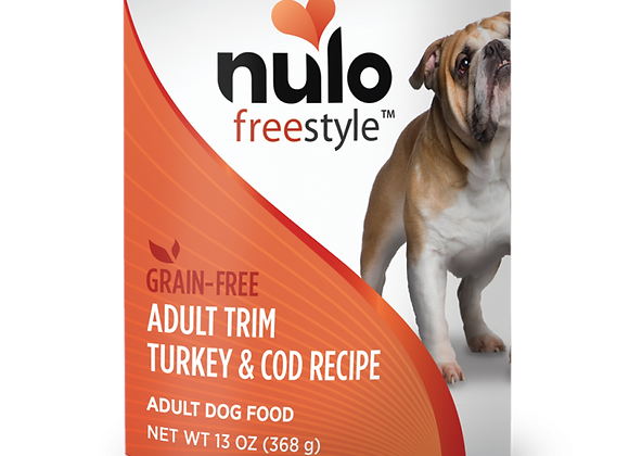 Nulo Freestyle Trim Canned Adult Dog Food, Turkey & Cod,  case of 12