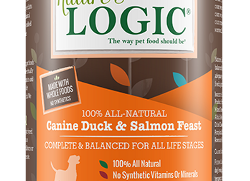 Nature's Logic Duck & Salmon Feast Canned Dog Food - 13.2 oz., Case of 12