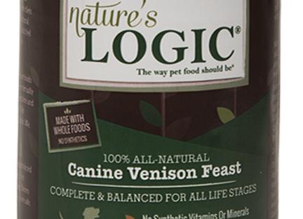 Nature's Logic Venison Feast Canned Dog Food, 13.2 oz., Case of 12