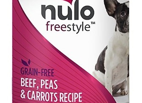 Nulo Freestyle Canned Dog Food - Beef, Peas, and Carrots, case of 12