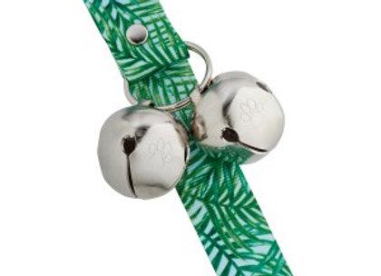 PoochieBells Doggie Doorbell Training Solution - Green Palm Design
