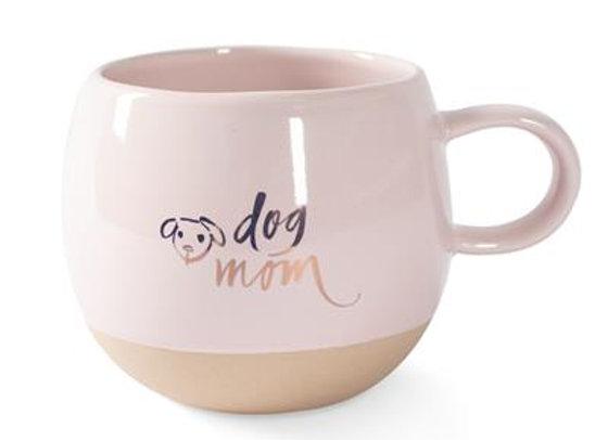 """Dog Mom"" Round Ceramic Mug"