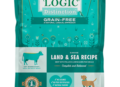 Nature's Logic Grain-Free Land & Sea Recipe Dry Dog Kibble