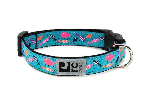 """Easy Clip Dog Collar - """"Shoal"""" Coral Reef Design"""