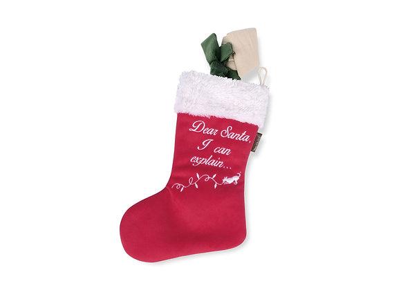 Good Dog Christmas Stocking Plush Toy