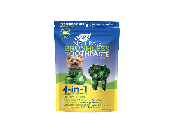 Ark Naturals  Brushless Toothpaste Mini Dog & Cat Chews, 4-oz bag