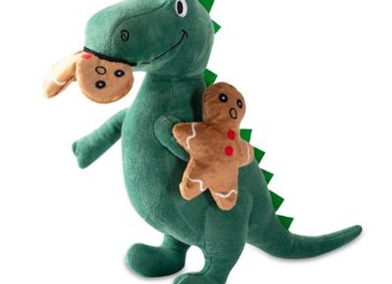 Oh, Snap! Gingerbread Dinosaur Holiday Dog Toy