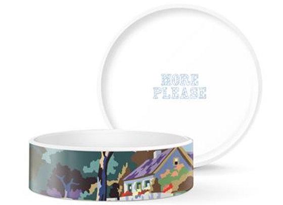Trey Speegle Home Scene Medium Ceramic Pet Bowl