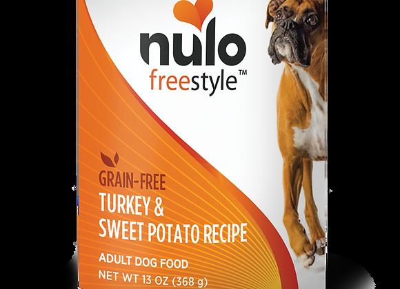 Nulo Freestyle Canned Dog Food - Turkey & Sweet Potato, case of 12
