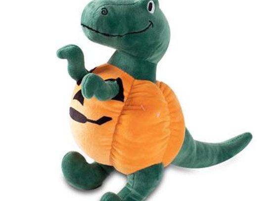 Pumpkin Rex Squeaky Plush Dog Toy