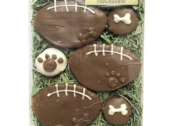 """""""Touchdown!"""" Fall Football-Themed Cookies for Dogs"""