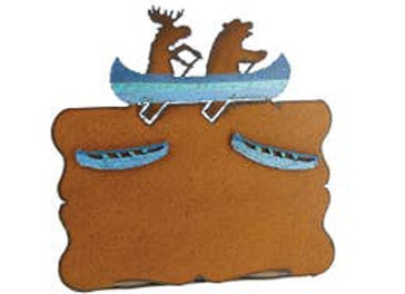 Canoeing Moose Picture Frame