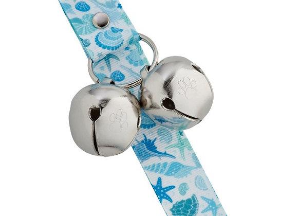 PoochieBells Doggie Doorbell Training Solution - Blue Seashell Design