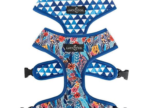 "Reversible Fashion Dog Harness: ""Royal Garden"""