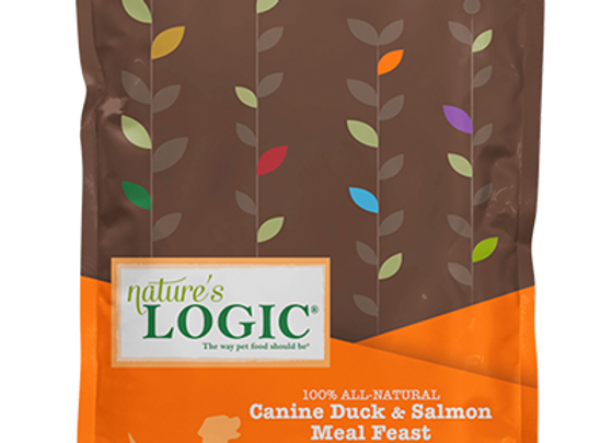 Nature's Logic Duck/Salmon Meal Feast Dry Food for Dogs - 26.4 lbs.